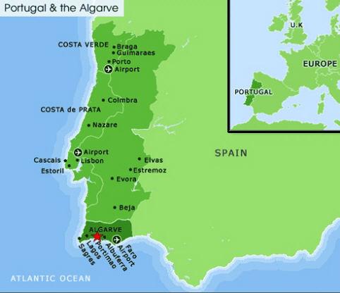 ROSS GUNN RACING - Portugal map costa verde